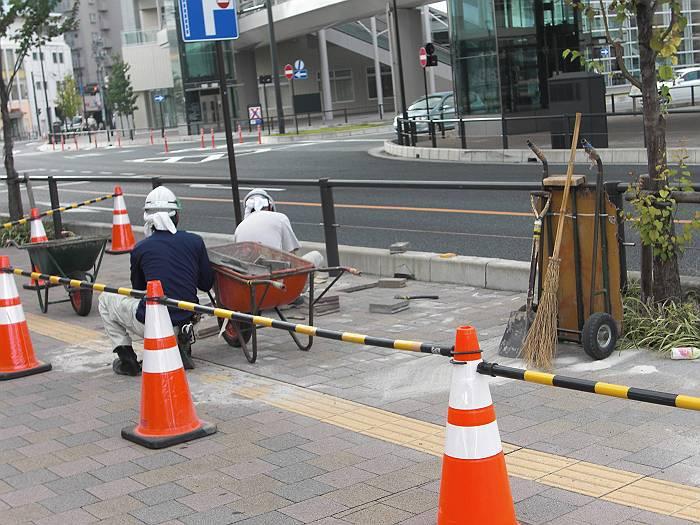 狭山市駅前補修工事(2012年10月撮影)