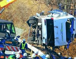 凄惨なバス事故 赤旗新聞報道より