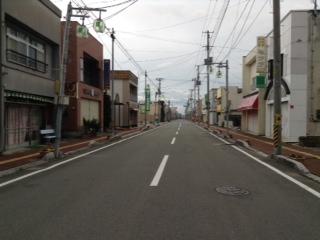 福島県浪江町 人がいない町並み
